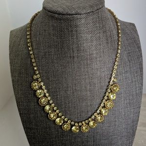1950s small crystal choker necklace.